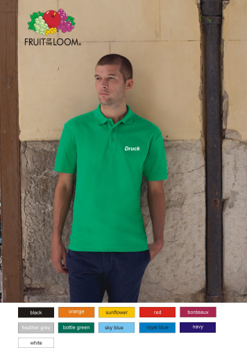 Polo Shirt mit Flexfoliendruck