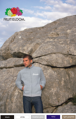 Sweat Jacke mit Flexfoliendruck