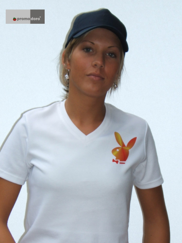 T-Shirt Ladies V-Neck mit Fotodruck